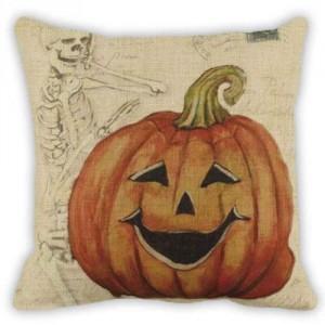 Jack-O-Lantern Pillow #30 18 x 18