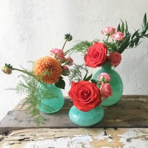 Jade Trio Vases