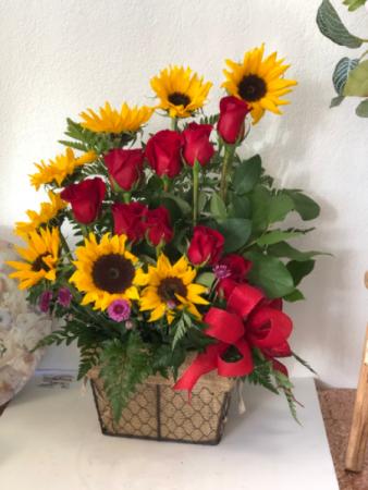 Sunflowers Galore  Rose Arrangement