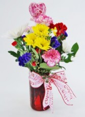 JAR OF LOVE Flower Arrangement