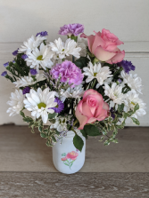 Jar of Spring Fresh Arrangement