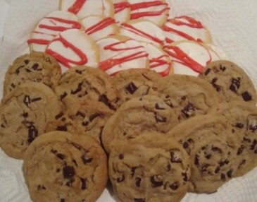 SPECIAL!!Two dozen cookies,  Chocolate Chunk And Iced Sugar. Need 30 hour notice for delivery.