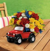 jeep king of the road bouquet gift