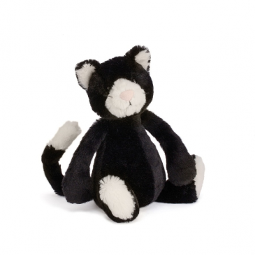 Jellycat Bashful Black & White Kitten plush animal