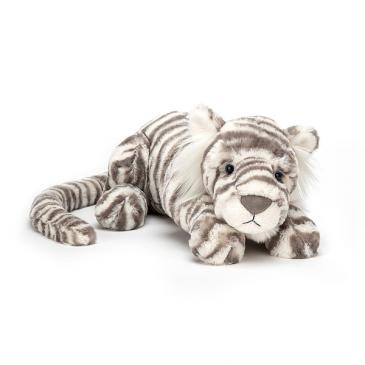 Jellycat Sacha Snow Tiger Plush Stuffed Animal