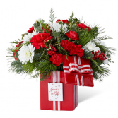 JESUS IS THE CHRISTMAS GIFT RED AND WHITE FLOWERS