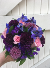JUST A TOUCH OF PINK Bridal Bouquet