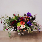 JEWEL TONE CENTERPIECE  Permanent flowers for your home
