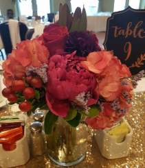 Jewel Tone Centerpiecs Table Centerpiece