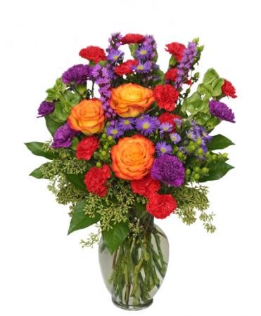 Jewel Toned Vase Arrangement