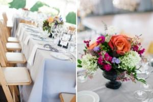 Jewel Toned Centerpiece Reception Flowers in North Adams, MA | MOUNT WILLIAMS GREENHOUSES INC