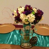 Jewel Tones Bridal Bouquet Hand-tied Bridal Bouquet