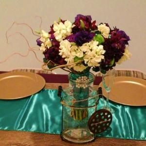 Jewel Tones Bridal Bouquet Hand-tied Bridal Bouquet
