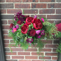Jewel Tones & Foliage Bridal Bouquet