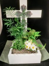 Jeweled Cross Planter Planter
