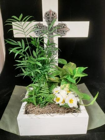 Handmade Cross Planter Planter