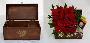 Jewelry keepsake box with lid Novelty container in Coral Springs, FL | Hearts & Flowers of Coral Springs
