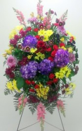 Happy colors funeral spray, MO-117 Fresh floral