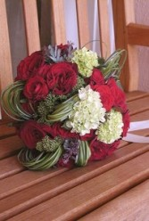 Red Garden Bridal Bouquet  Bridal Bouquet