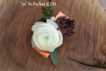 Jim No Pin  Boutonniere