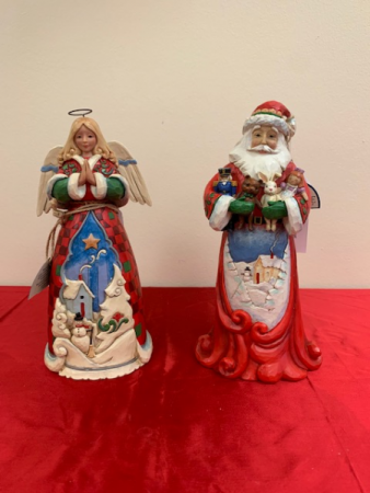 Jim Shore Christmas Angel and Santa Claus Christmas Jim Shore