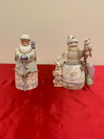 Jim Shore's Woodland Snowman and Santa Christmas Jim Shore