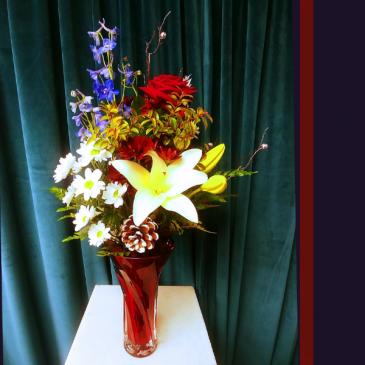 Jingle Bells Vase Arrangment