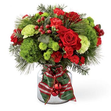 Jingle Bells Vased Arrangement