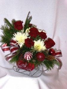 JINGLE BELLS SLEIGH Christmas Flowers & Roses Christmas Roses, Christmas Flowers, Christmas Centerpieces,  Christmas Candle Centerpieces, Christmas Arrangements in Prince George, BC | AMAPOLA BLOSSOMS FLOWERS