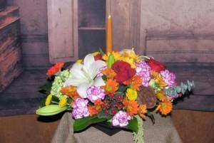 Thankful Centerpiece  in Stevensville, MT   WildWind Floral Design Studio