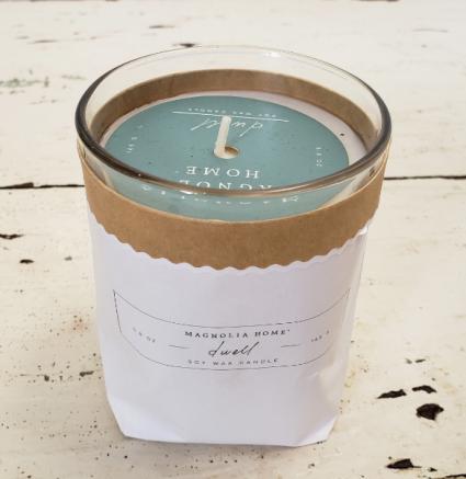 Joana Gaines' Magnolia Home Sleeved Soy Wax Candle