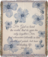 John 3:16 Woven Throw Powell Florist Exclusive
