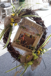 john deere wreath