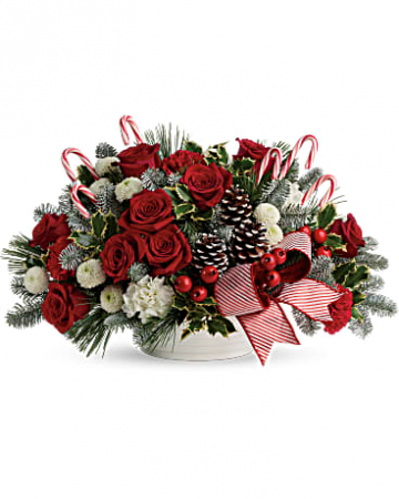 Jolly Candy Cane Bouquet Holidays