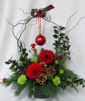 Jolly Holiday an Inspirations Original Design in Lock Haven, PA | INSPIRATIONS FLORAL STUDIO