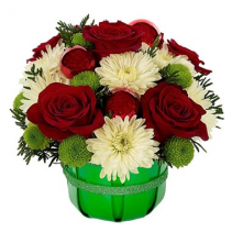 Jolly Holiday Wishes Basket Arrangement