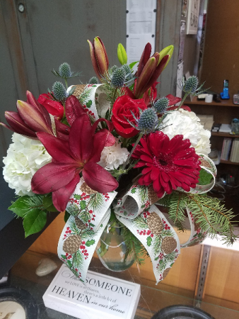 Jolly Holidays Vase Arrangement