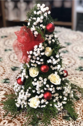 Jolly Red & White Christmas Tree Christmas