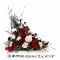 Jolly Santa Bud & Bloom Signature Arrangement