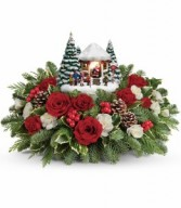 Thomas Kinkade Jolly Santa Floral Bouquet