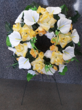 Jovial Yellow Silk Wreath