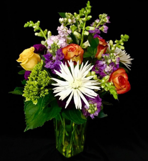 Joy! Burst of Floral Color Design in Plainview, TX | Kan Del's Floral, Candles & Gifts