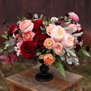 Joy Fall  Holiday Center Peice in Oakville, ON | ANN'S FLOWER BOUTIQUE-Wedding & Event Florist