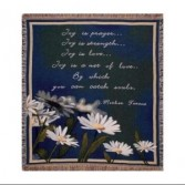Joy Is Prayer Throw Blanket