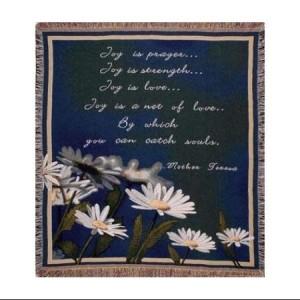 Joy Is Prayer Throw Blanket