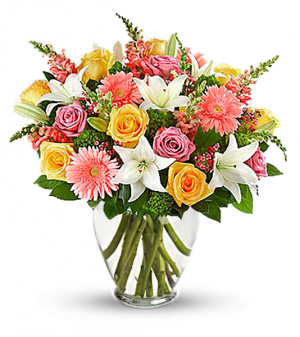 Joy of Spring Arrangement in San Bernardino, CA | INLAND BOUQUET FLORIST