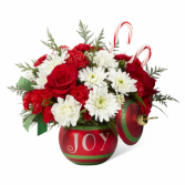 Joy Ornament Christmas Arrangement