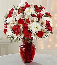 Joy to the World vase arrangement