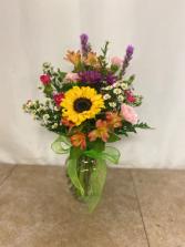 Joyful Blessings One Sided bright vase
