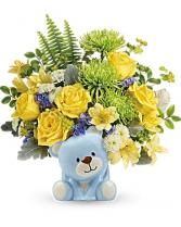 Joyful Blue Bear Arrangement
